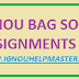 IGNOU BAG Solved assignment 2020-21 || IGNOU BAG Free Solved assignment January 2021 Sessions download