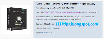 icare data recovery free edition