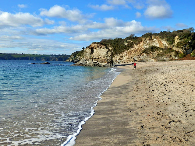Sandy beach at Carlyon Bay , Cornwall