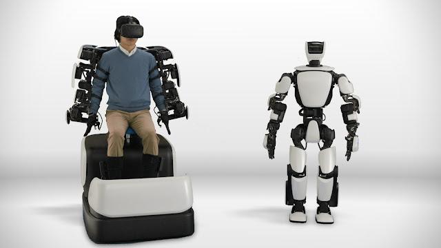 روبوت Toyota's T-HR3 روبوت يحاكي تحركاتك