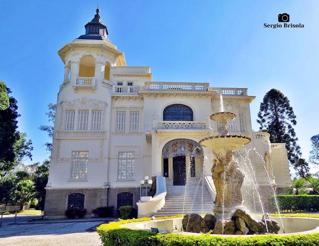 Palácio dos Cedros (Fotocomposição com a Fonte do Amor)