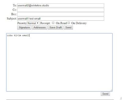 Ujicoba Kirim Email Ke Usermail2
