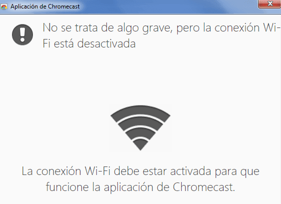 windows xp no es compatible con chromecast