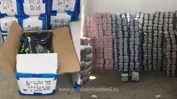 Aproximativ 67.000 de bunuri, susceptibile a fi contrafăcute, confiscate de polițiștii de frontieră din P.T.F. Calafat