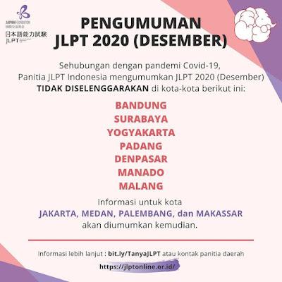 JLPT Desember 2020 tetap dilaksanakan