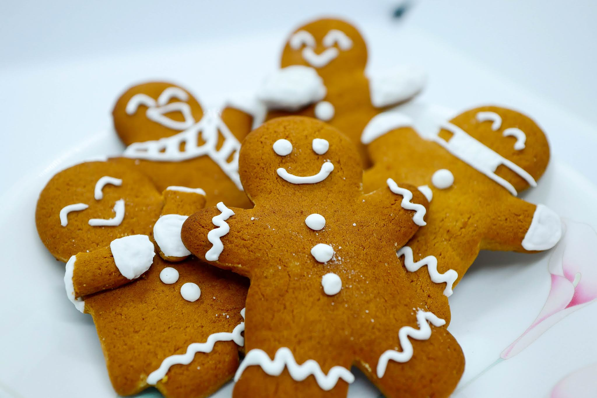fin: gingerbread people cookies for christmas