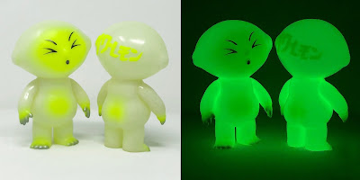 Sour Lemon Radioactive Glow in the Dark Edition Vinyl Figure by Anti-Social Sofubi