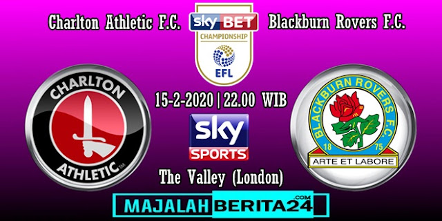 Prediksi Charlton Athletic vs Blackburn Rovers