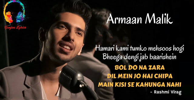 Bol Do Na Zara Lyrics English Translation - Armaan Malik Lyrics