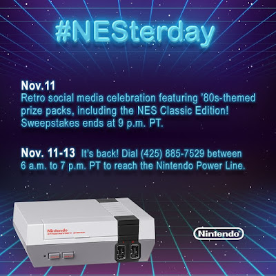 #NESterday Nintendo Entertainment System Classic Edition Power Line help hotline is back 425-885-7529