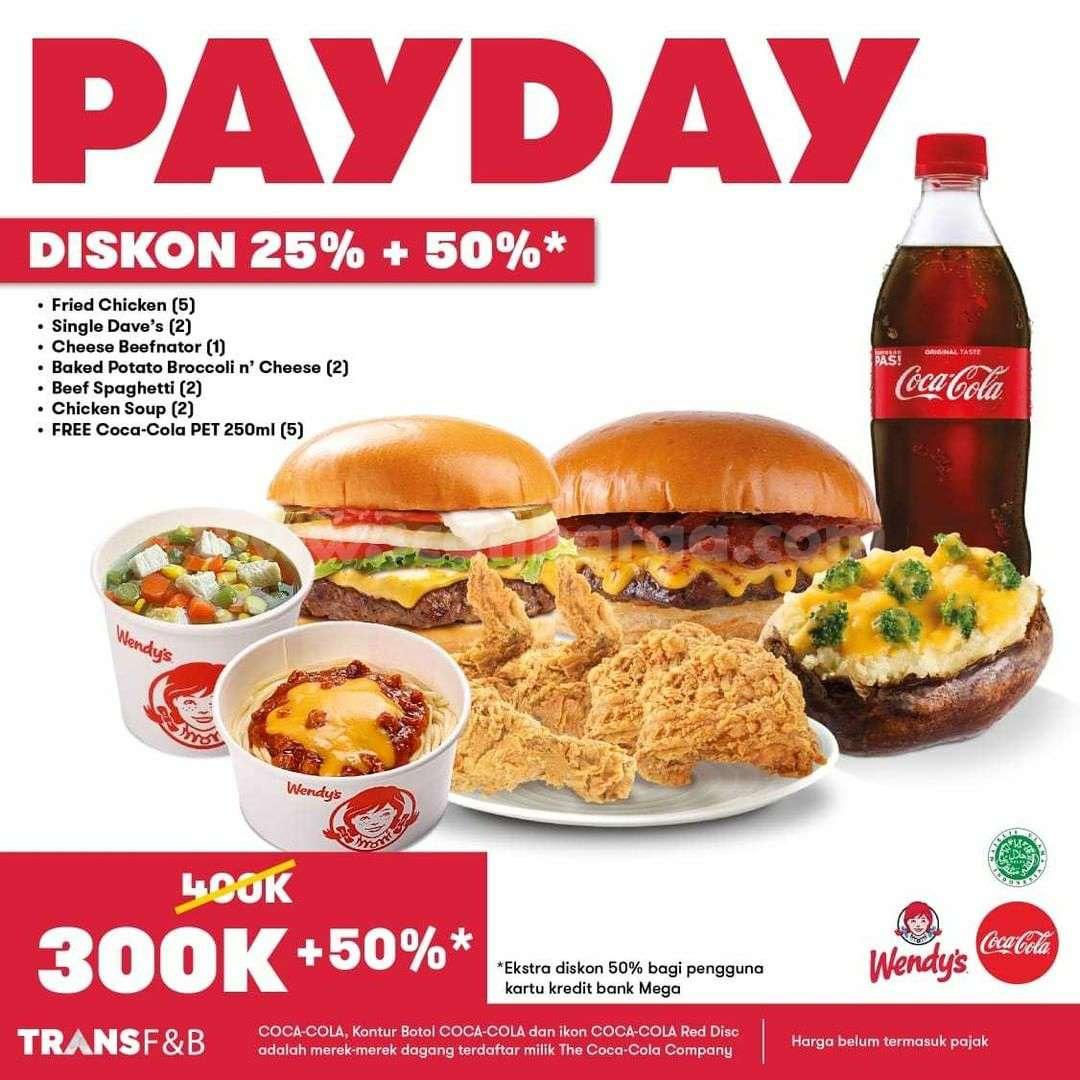 Promo WENDYS Paket PAYDAY DISKON 25% + 50%