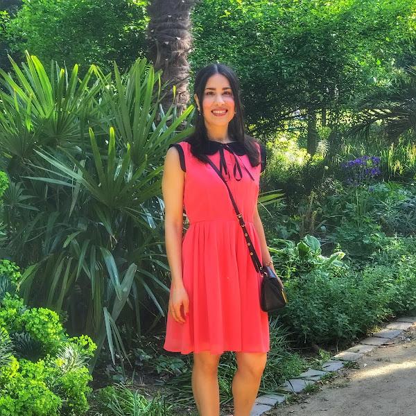 Style: Sommer Outfit mit korallfarbenen Kleid, Unisa Sandalen und ASOS Handtasche