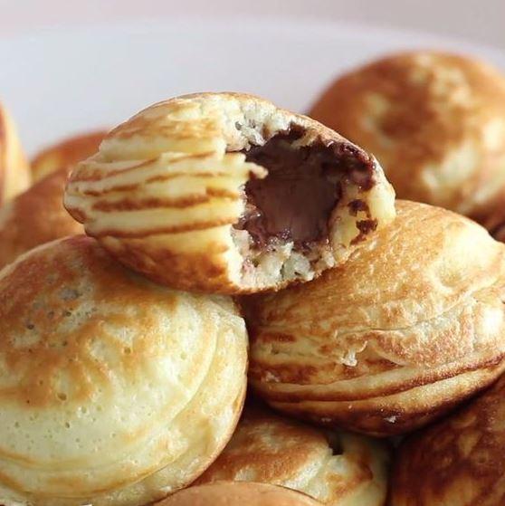 Nutella-Stuffed Mini Pancakes