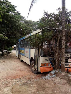 Acidente com Ônibus Escolar e Caminhão no Bairro Onça Parda em Sete Barras