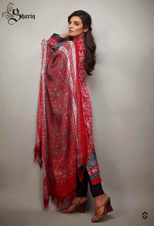 new shawl collection by Rabeeah for winter 2014 ~ Pak Fashion