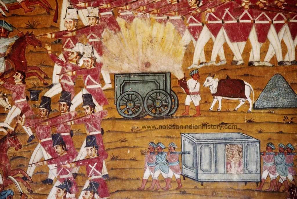 amrit-mahal-bulls-battle-of-pollilur-burning-tumbril