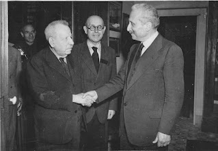 Benedetto Croce (left), with the first president of the post-War Italian republic, Enrico De Nicola