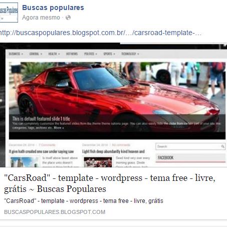 "►""CarsRoad"" - template - wordpress - tema free - livre, grátis"