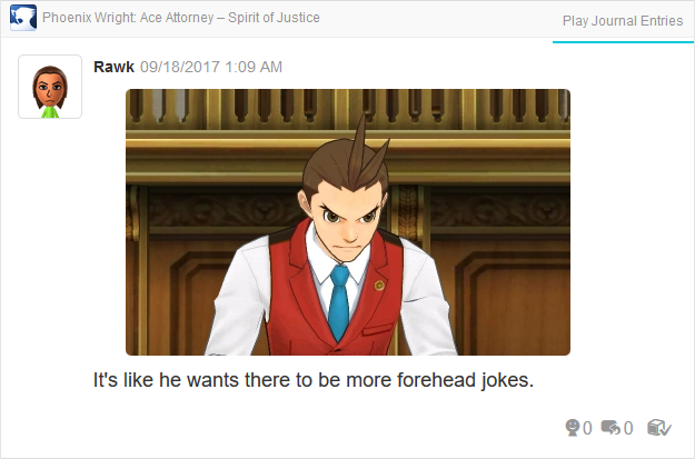 Phoenix Wright Ace Attorney Spirit of Justice forehead Apollo