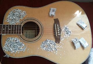 Glitter guitar czyli metamorfoza mojej gitary