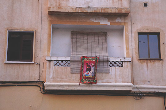Jesus towel, travel photography, Spain, buildings, contemporary, photo, Sam Freek,