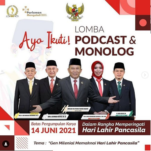 """Lomba Podcast & Monolog  Tema """"Gen Milenial Memahami Hari Lahir Pancasila"""""""