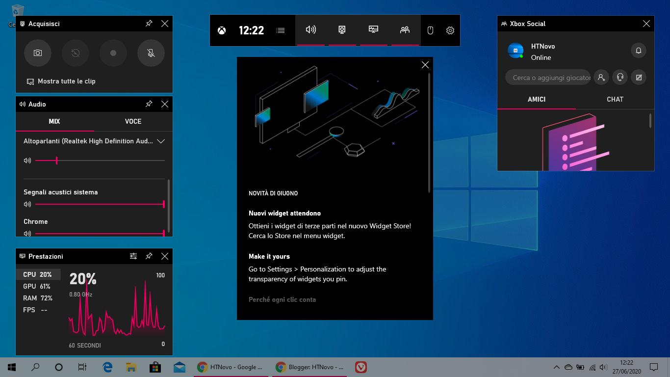 Come avere un browser Web in Xbox Game Bar di Windows 10