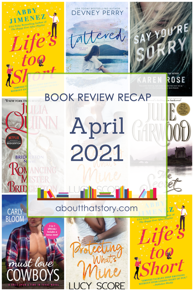 Book Review Recap April 2021 | About That Story