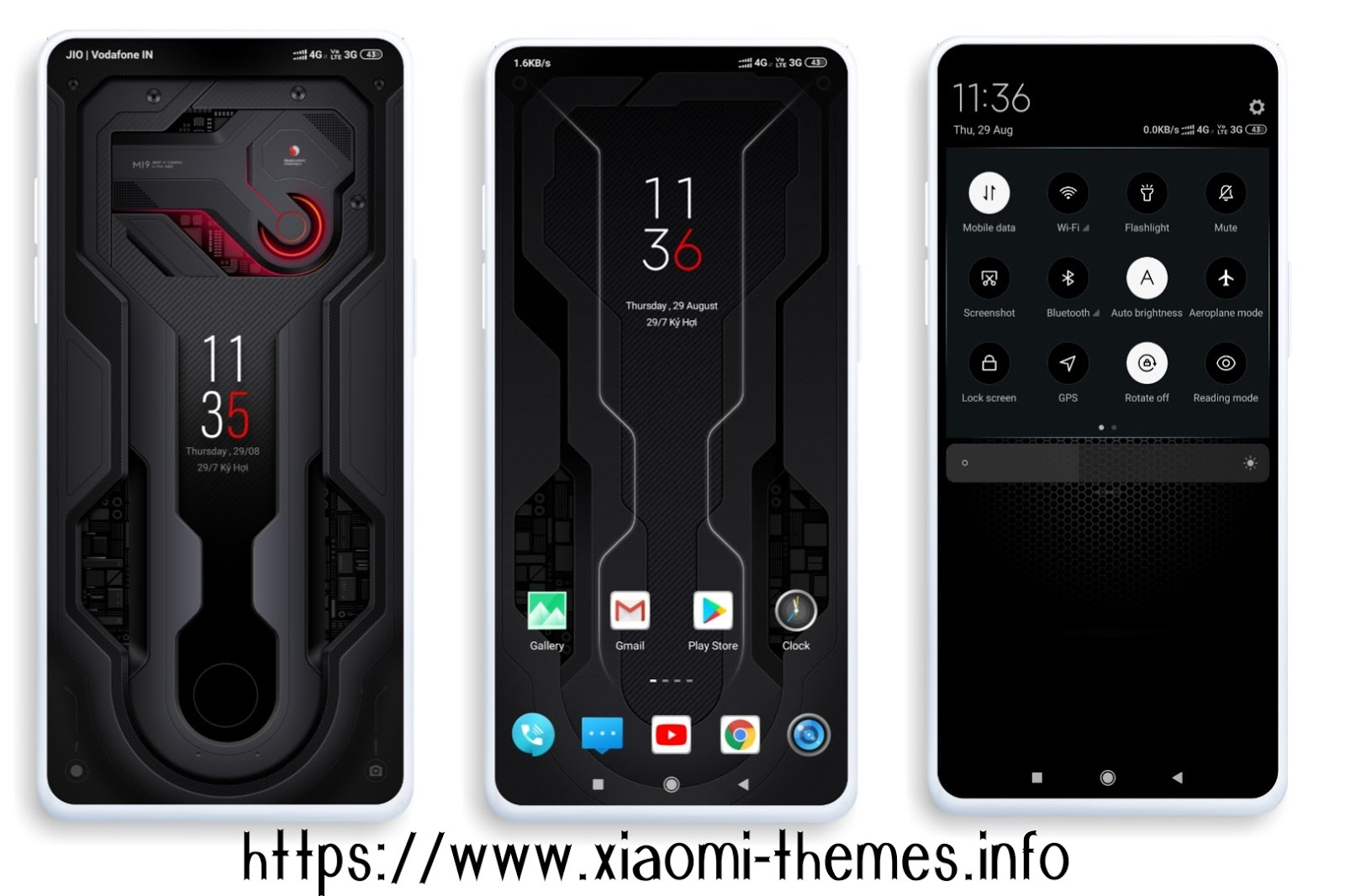 Mi 9 Explorer Edition Dark MIUI theme in mtz file free to