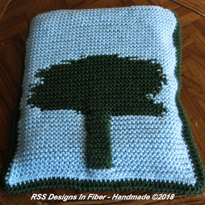 Tree Tapestry Laptop Sleeve in Caron Simply Soft Yarn - Knitted By Ruth Sandra Sperling at RSS Designs In Fiber on Etsy