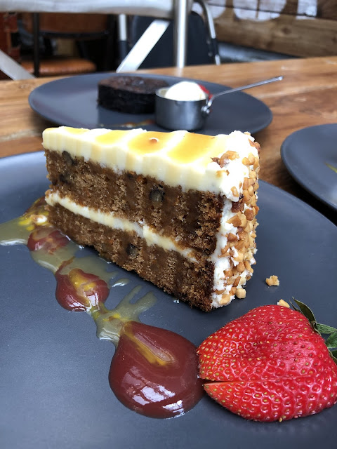 the customs shed novotel cardiff carrot cake