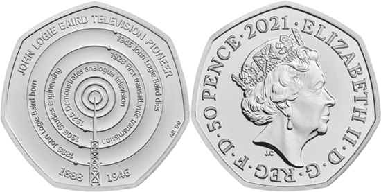 United Kingdom 50 pence 2021 - John Logie Baird