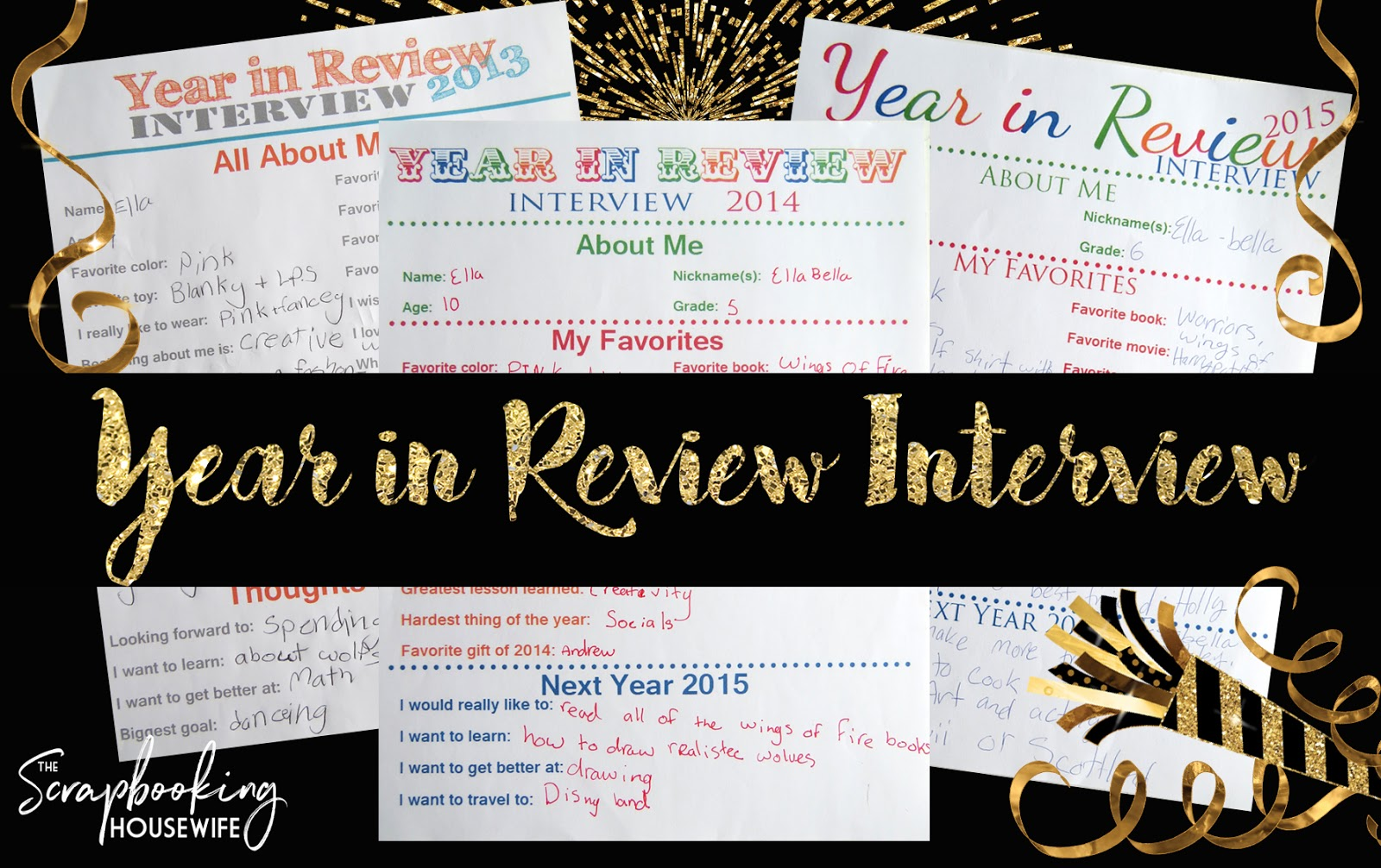 Ellabella Designs Year In Review Interview Printable For Kids