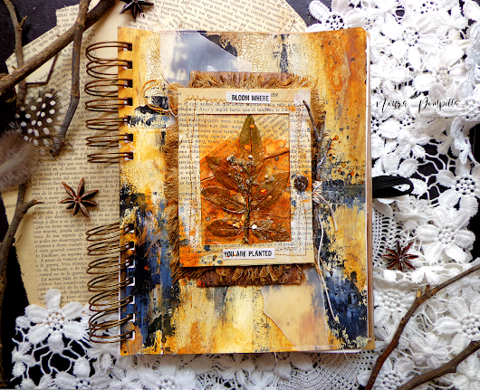 "Journal page ""Bloom"" for Scrapki-wyzwaniowo Challenge"