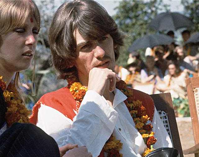 The Beatles in India.