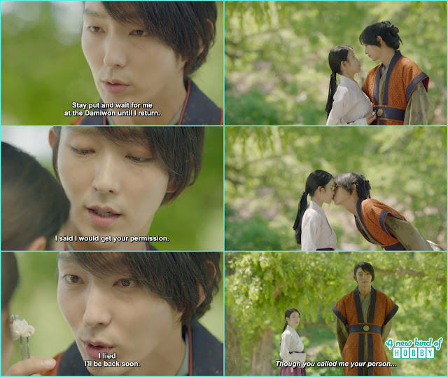 4th prince steal a kiss from hae soo before leaving for jin - Moon Lover Scarlet Heart Ryeo - Episode 12 - Review