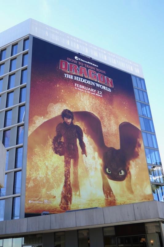 How to Train Your Dragon Hidden World movie billboard