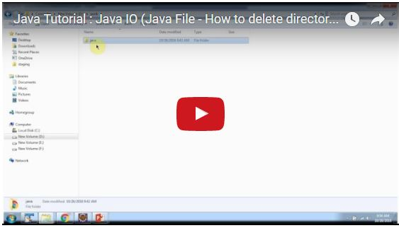 JAVA EE: Java Tutorial : Java IO (Java File - How to