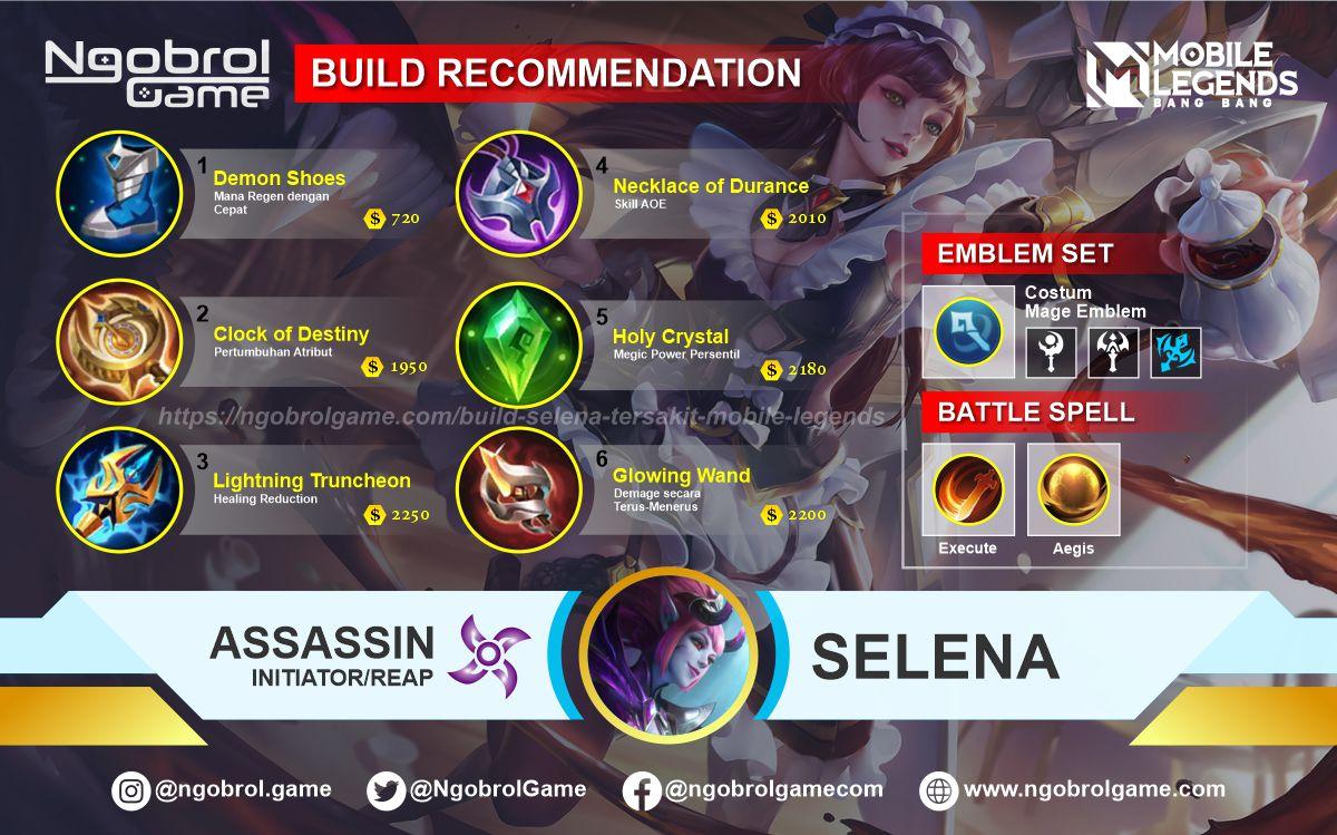 Build Selena Tersakit 2021 Mobile Legends