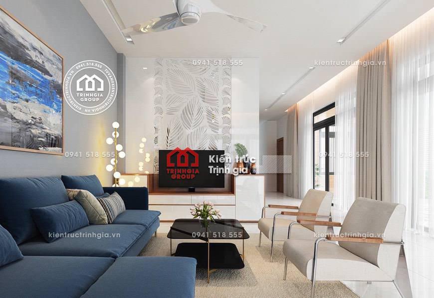 Thiết kế nội thất biệt thự phong cách kiến trúc hiện đại đẹp