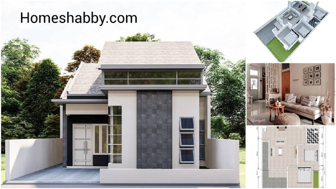 Desain Dan Denah Rumah Minimalis Ukuran 8 X 11 M Dengan 3 Kamar Tidur Tampil Lebih Lega Dari Ventilasi Serta Material Batu Alam Ramah Lingkungan Homeshabby Com Design Home Plans Home