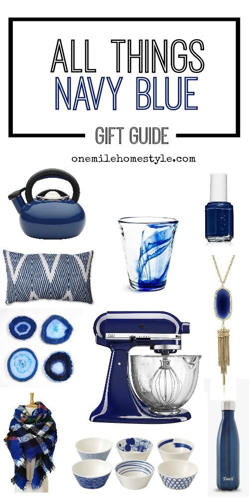 All Things Navy Blue Gift Guide - Variety of gifts for anyone for any occasion, all navy blue