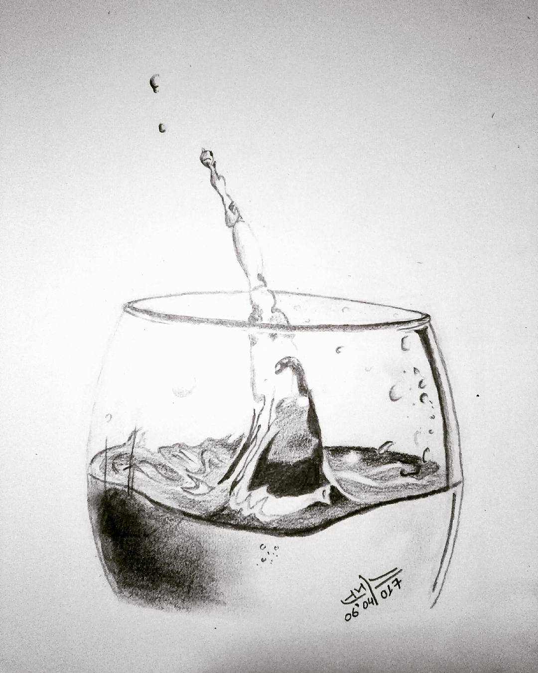 splashed effect of water