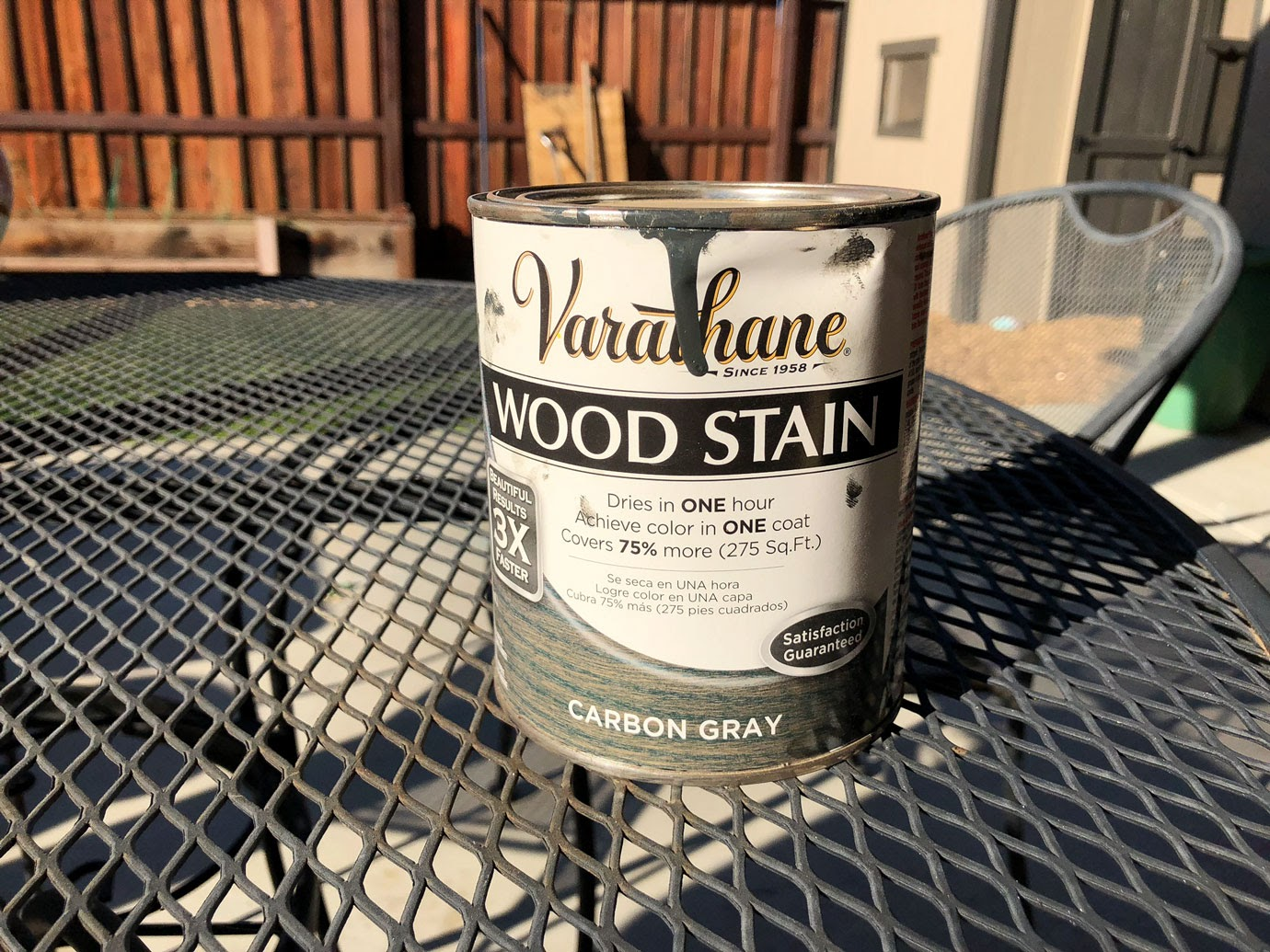 Varathane Wood Stain in Carbon Gray