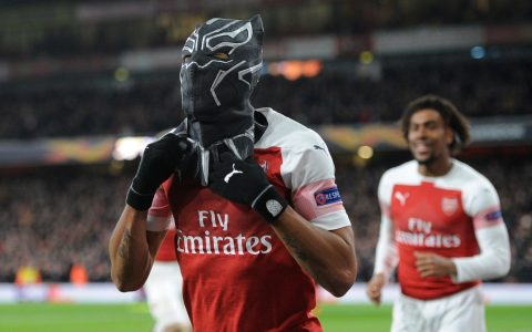 Aubameyang Arsenal FC Celebration