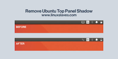 Remove Ubuntu Shadow Top Panel