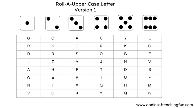ROLL-A-LOWER CASE LETTER (FREE DOWNLOAD)