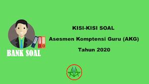 Kisi-Kisi Soal Asesmen Kompetensi Guru Madrasah (AKG Madrasah) Tahun 2020
