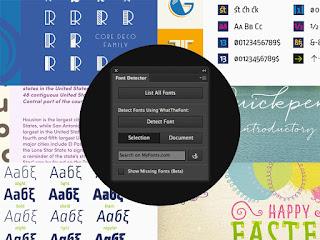 Photoshop Font Detector