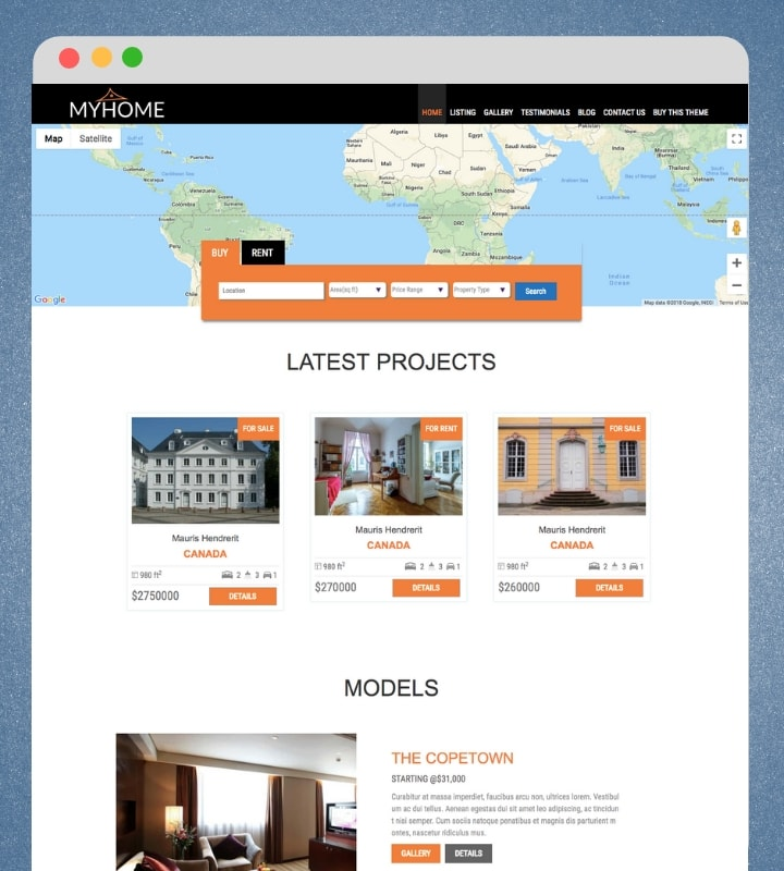 MyHome (Real Estate WordPress Theme)